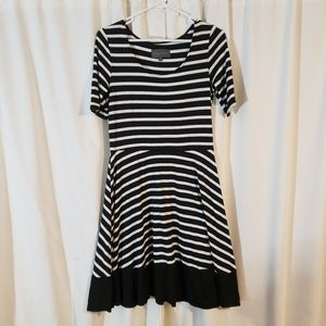 Sunday in Brooklyn Black and White Striped Dress